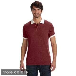 Alternative Men's Feeder Stripe Polo Shirt|https://ak1.ostkcdn.com/images/products/9049075/Alternative-Mens-Feeder-Stripe-Polo-Shirt-P16245785.jpg?impolicy=medium