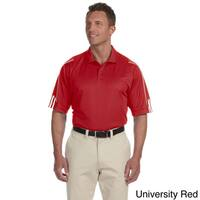 Adidas Men's ClimaLite 3-stripes Cuffed Polo Shirt