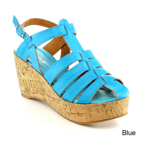 Nature Breeze Zurich-02 Women's Wedge Sandals