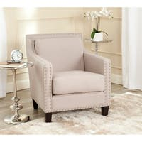 Safavieh Charles George Taupe Linen Arm Chair