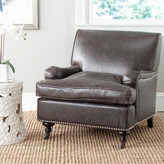Safavieh Chloe Antique Brown Club Chair
