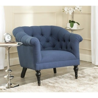 Safavieh Nicolas Steel Blue Viscose Blend Club Chair