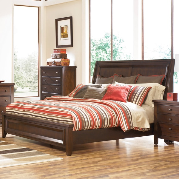 Shop Signature Design By Ashley Holloway Medium Brown Queen Size Bed Overstock 9049247