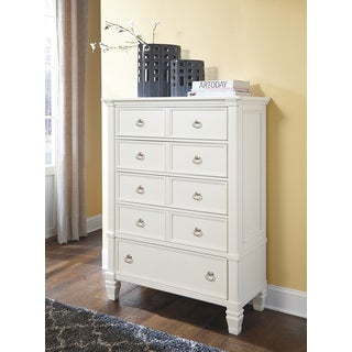 Signature by Ashley Prentice White 5-drawer Chest