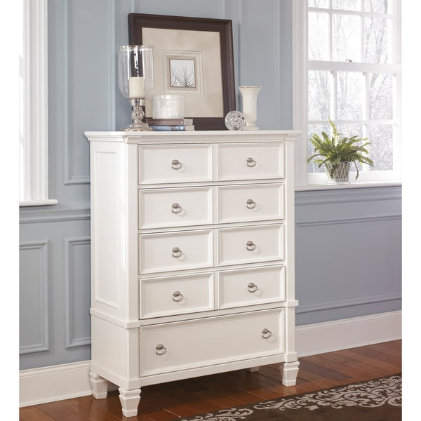 Signature By Ashley Prentice White  Drawer Chest