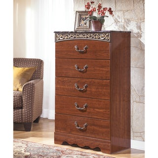 Signature Design by Ashley 'Fairbrooks Estate' Reddish-brown 5-drawer Chest