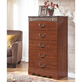 Signature Design by Ashley 'Fairbrooks Estate' Reddish-brown 5-drawer Chest