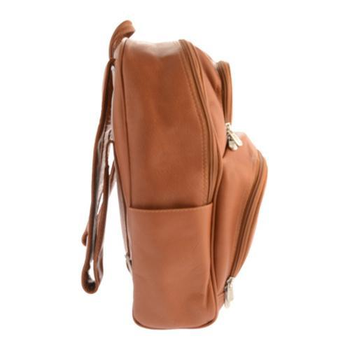 Piel Leather Half-Moon Laptop Backpack 2992 Saddle Leather - Free ...