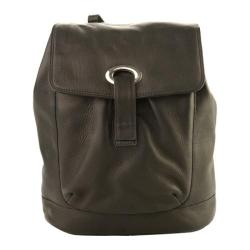Piel Leather Large Oval Loop Backpack 3020 Black Leather