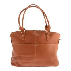 Women's Piel Leather Slim Executive Computer Case 3013 Saddle Leather