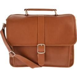 Piel Leather Small Flap-Over Laptop Brief 2991 Saddle Leather