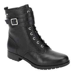 Women's Rockport Tristina Lace Up Boot Black Leather