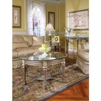Gracewood Hollow Fanon Round Cocktail Table with Glass Top