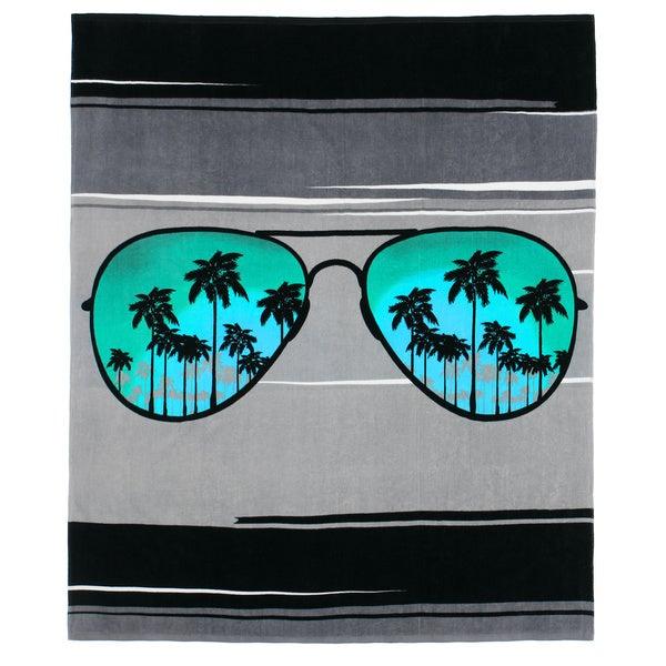 Aviator Sunglasses Beach Towel-for-Two