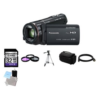 Panasonic X920 3MOS Ultrafine Full HD Video Camcorder 32GB Bundle