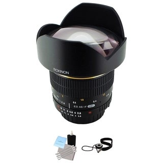 Rokinon 14mm f/2.8 IF ED UMC Lens For Nikon with Focus Confirm Chip Bundle