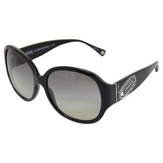 Coach Women's 'Angeline HC8037B 500211' Black Oversized Sunglasses