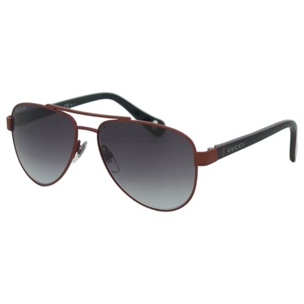 1628d4399e Shop Gucci Kids  GG 5501 C S 0WQT  Red Aviator Sunglasses - Free ...