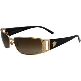 Versace Unisex VE 2021 100213 Gold Brown Gradient Fashion Wrap Sunglasses
