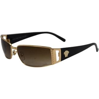 Versace Unisex VE 2021 100213 Gold Brown Gradient Fashion Wrap Sunglasses
