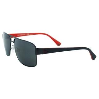 Emporio Armani 'EA 2002 3001/87' Matte Black/ Red Sunglasses