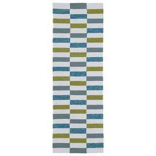 Indoor/Outdoor Luau Ivory Stripes Rug (2' x 6') - 2' x 6'
