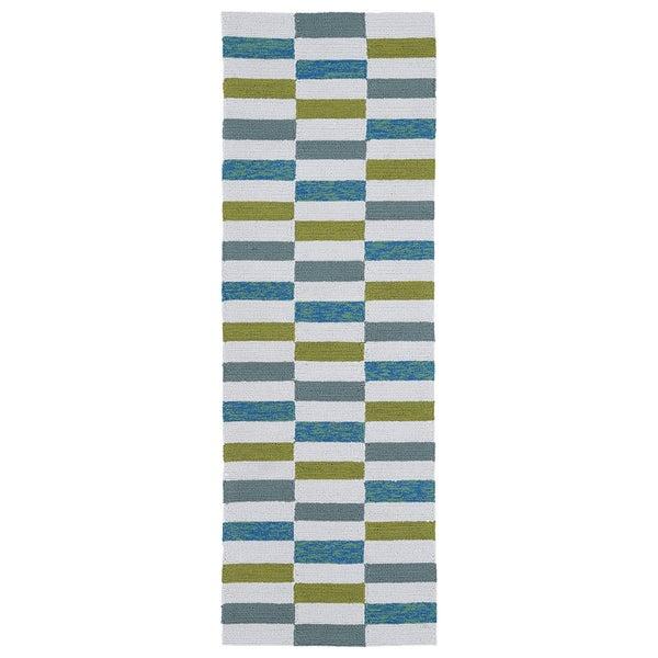 Indoor/Outdoor Luau Ivory Stripes Rug (2' x 6') - 2' x 6'