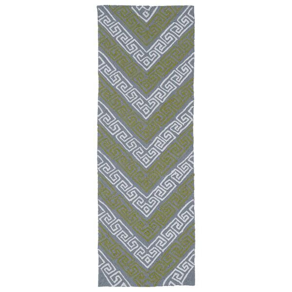 Indoor/Outdoor Luau Grey Chevron Rug (2' x 6') - 2' x 6'