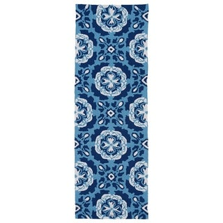 Indoor/Outdoor Luau Blue Paradise Rug (2' x 6')