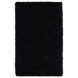Hand-Tufted Silky Shag Black Rug (3' x 5')