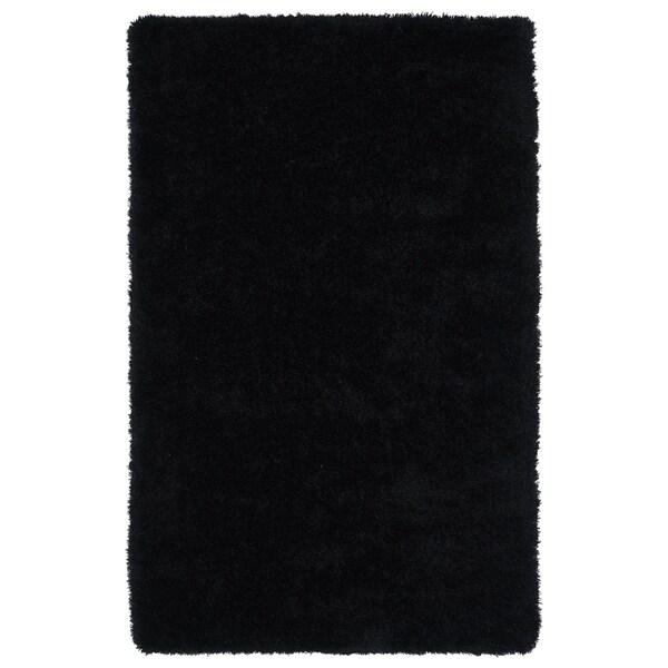 Hand-Tufted Silky Shag Black Rug (8' x 10')