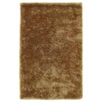 Hand-Tufted Silky Shag Gold Rug (5' x 7')