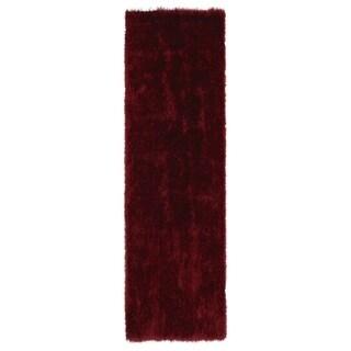 Hand-Tufted Silky Shag Brick Rug (2'3 x 8')