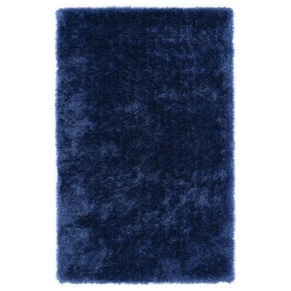Hand-Tufted Silky Shag Denim Rug (9' x 12')
