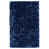 Hand-Tufted Silky Shag Denim Rug (9' x 12')