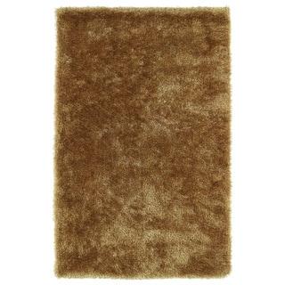 Hand-Tufted Silky Shag Gold Rug (9' x 12')