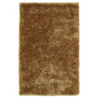 Hand-Tufted Silky Shag Gold Rug (9' x 12') - 9' x 12'