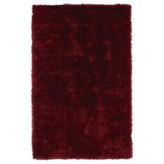 Hand-Tufted Silky Shag Brick Rug (3' x 5') - 3' x 5'