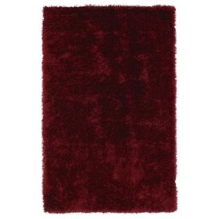 Hand-Tufted Silky Shag Brick Rug (5' x 7') - 5' x 7'