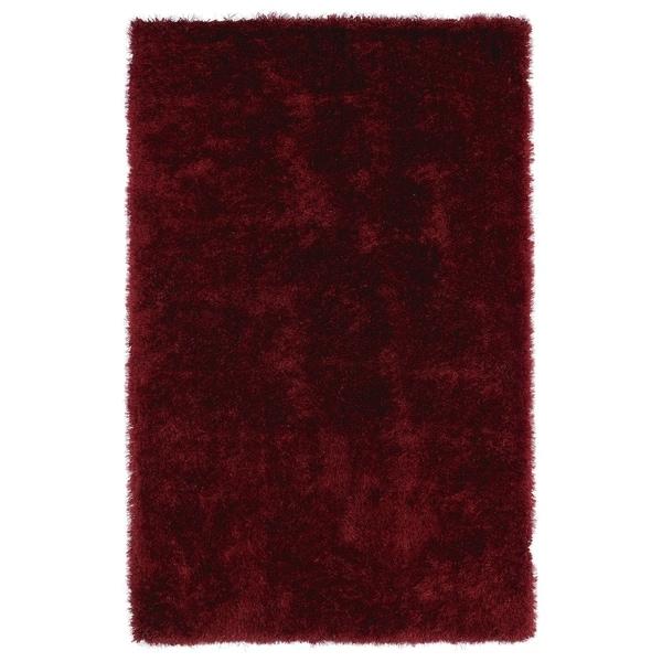 Hand-Tufted Silky Shag Brick Rug (8' x 10') - 8' x 10'