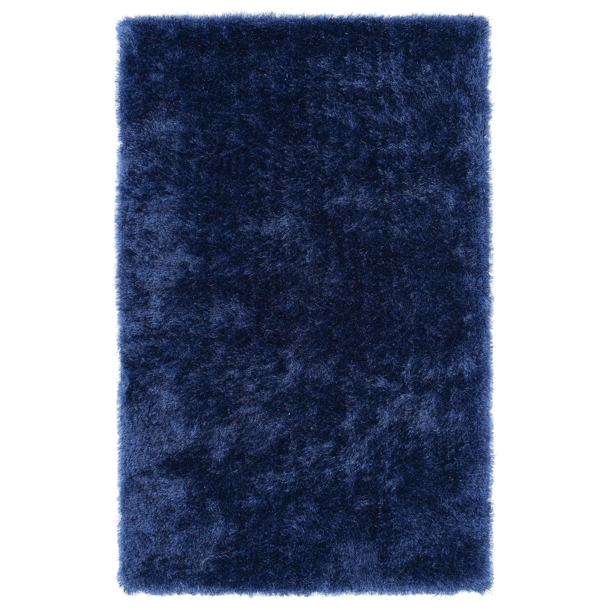 Hand-Tufted Silky Shag Denim Rug (5 x 7) - 5 x 7 (Denim - 5 x 7)