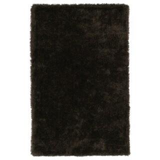 Hand-Tufted Silky Shag Chocolate Rug (9' x 12') - 9' x 12'