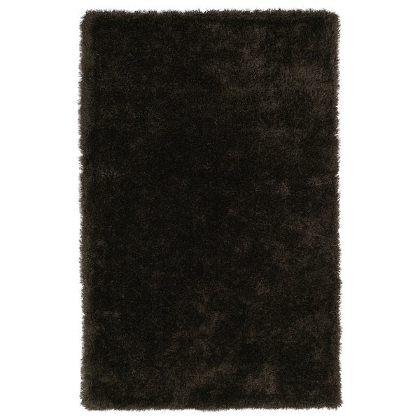 Hand-Tufted Silky Shag Chocolate Rug (9' x 12')