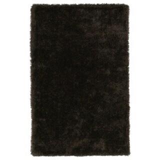 Hand-Tufted Silky Shag Chocolate Rug (5' x 7') - 5' x 7'