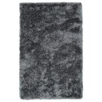 Hand-Tufted Silky Shag Grey Rug (2' x 3')