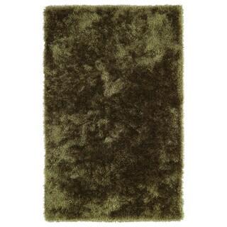 Hand-Tufted Silky Shag Olive Rug (3' x 5')