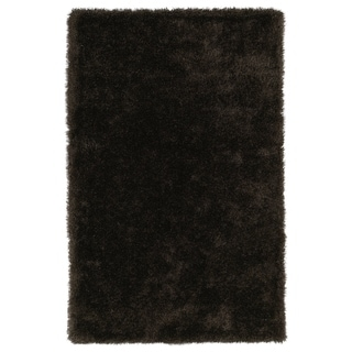 "Hand-Tufted Silky Shag Chocolate Rug (2'3 x 8') - 2'3"" x 8'"