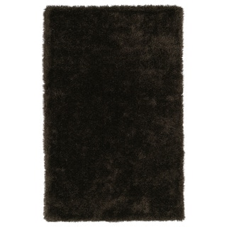 Hand-Tufted Silky Shag Chocolate Rug (3' x 5') - 3' x 5'