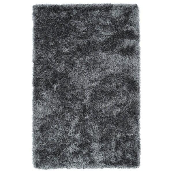 Hand-Tufted Silky Shag Grey Rug (5' x 7')