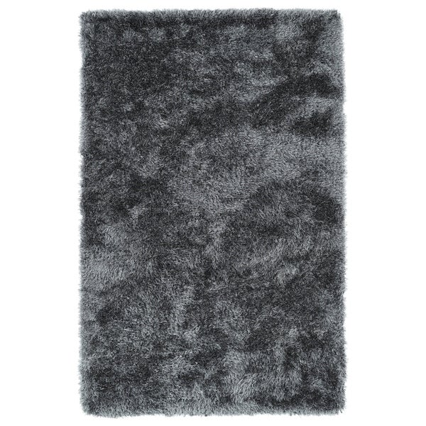 Hand-Tufted Silky Shag Grey Rug (8' x 10')